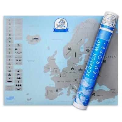 [원더스토어] 럭키스 스크래치 맵 유럽 Scratch Map Euro