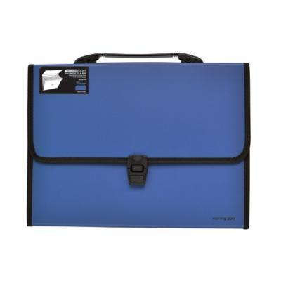 8500 투컬러 포켓 도큐멘트 파일백 (블루)