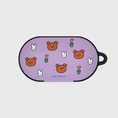 Bear and rabbit-purple(Buds hard case)