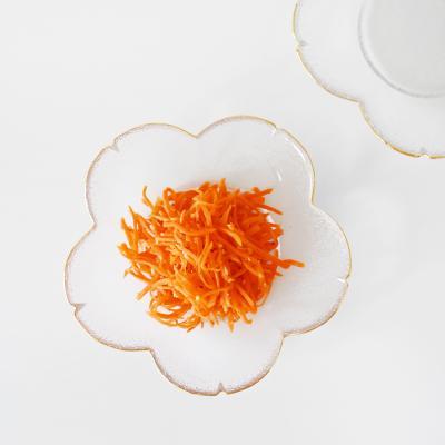 골드라인 마리꽃 유리 접시 17cm