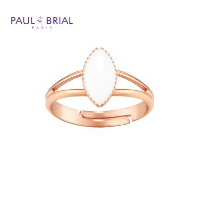폴브리알 PYBR0113 (PG) 마퀴즈 투라인 반지 WHITE