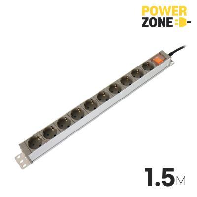 [파워존] 메인일반 알루미늄멀티탭 10구 1.5M