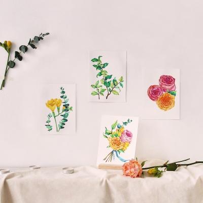 꽃다발 우드스탠드 수채화 온라인 취미 클래스 WC-K-0002