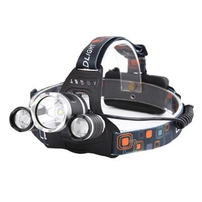 LED 충전식 캠핑 낚시 랜턴 헤드랜턴 3구