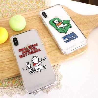 (방탄케이스) 디즈니 곰돌이푸 코믹 휴대폰케이스