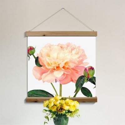 ah217-우드스크롤_60CmX60Cm-아름다운풍수모란꽃