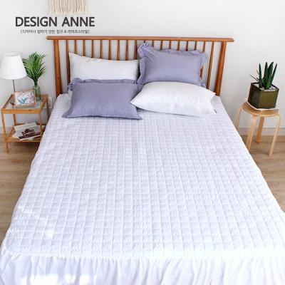 [디자인엔] 알러지케어 모던 침대스커트Q-화이트