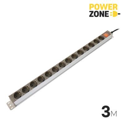 [파워존] 메인일반 알루미늄멀티탭 14구 3M