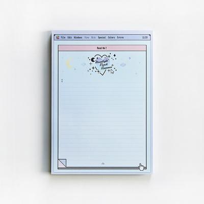 blue moonlight memo pad (A5)