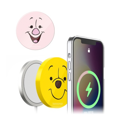 아이폰 맥세이프 무선 충전기 패드 곰돌이푸 케이스