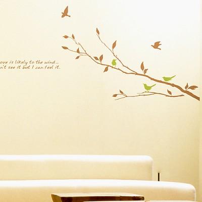 [디자인베이]  바람의향기 (반제품B타입) 그래픽스티커 나무 포인트 시트지