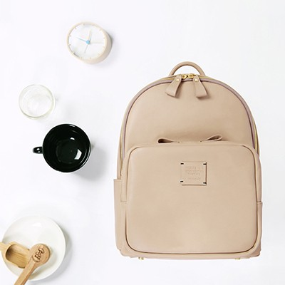 SQUARE MINI OFFICE LEATHER BACKPACK 스퀘어 백팩