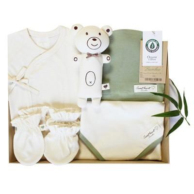 스윗하트 오가닉 밤부그린 신생아 선물세트(여름 출산선물6종세트)