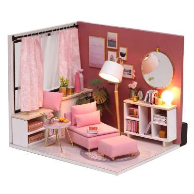 [adico]DIY 미니어처 하우스 - 핑크 리빙룸