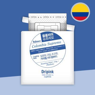 드립핑크 갓볶은 콜롬비아 슈프리모 10g 드립백커피