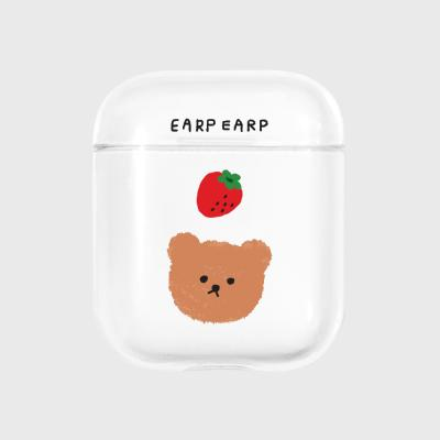 Dot strawberry bear-clear(Air pods)
