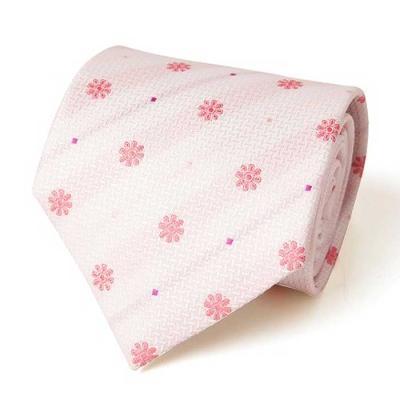 Hombre W.Pink Flor 패턴 수동 넥타이 CH1623703