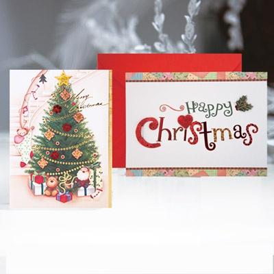 크리스마스카드/성탄절/트리/산타 미니세트 12종 set (FS5091)