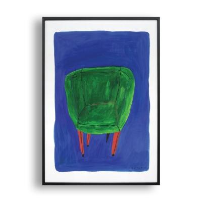 초록의자 / 일러스트 액자