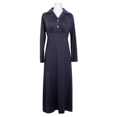 [쿠비카]캡내장 폴리 카라 롱 원피스 여성잠옷 W833