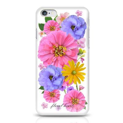 핑크 플라워 하트 하드 케이스(아이폰5/5S)
