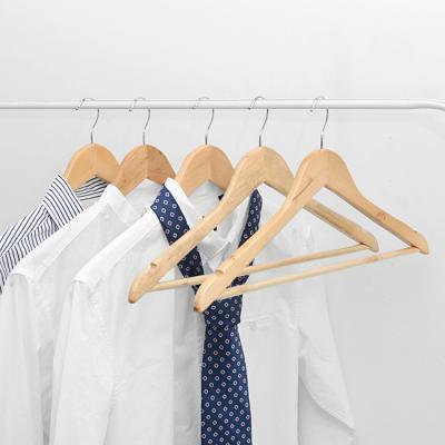 (와인앤쿡)미니멀 홈 원목옷걸이1개 5개세트