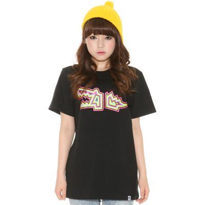 슈퍼크록 네온 크록 클래식 티셔츠 블랙