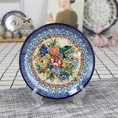 폴란드그릇 아티스티나 원형 접시 16cm 유니캇u3356