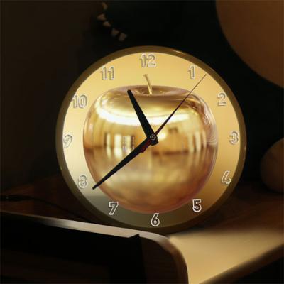 nf681-LED시계액자25R_부귀의황금사과