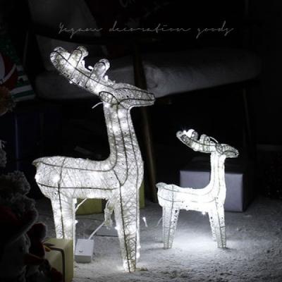 [2HOT] LED 화이트 사슴 (전구포함) 60cm