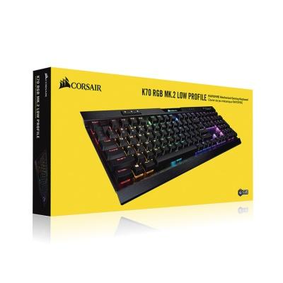 커세어 기계식 키보드 K70 RGB MK.2 LOW PROFILE 은축