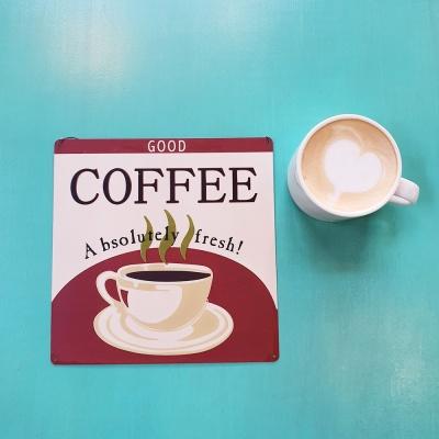 따뜻한 아메리카노 커피 사인보드