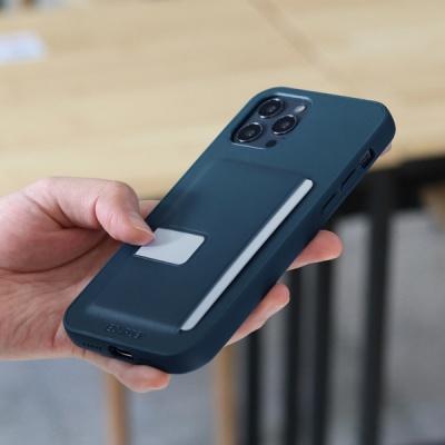 아이폰12 시리즈 슬림형 가죽 케이스 다크블루