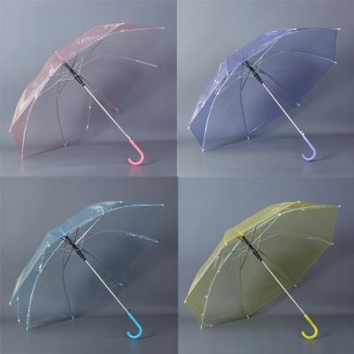 컬러 투명 장우산