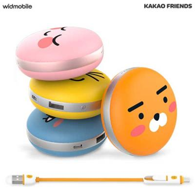 카카오프렌즈 마카롱 대용량 보조배터리