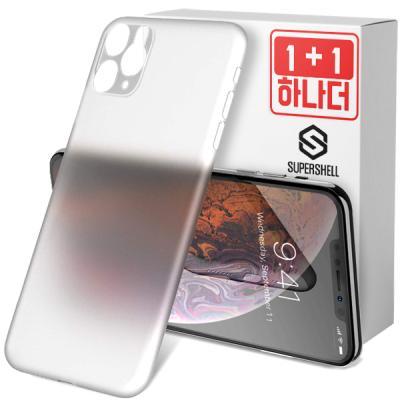 슈퍼쉘 아이폰11프로 케이스 에어슬림 1+1