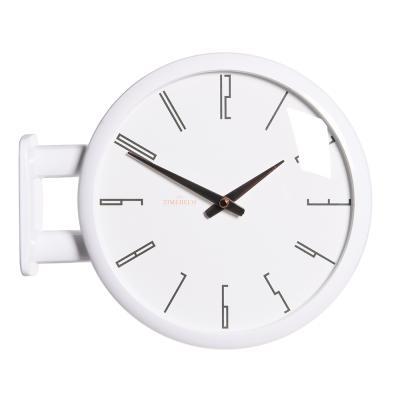 (ktk143)심플 화이트양면시계 (A7)