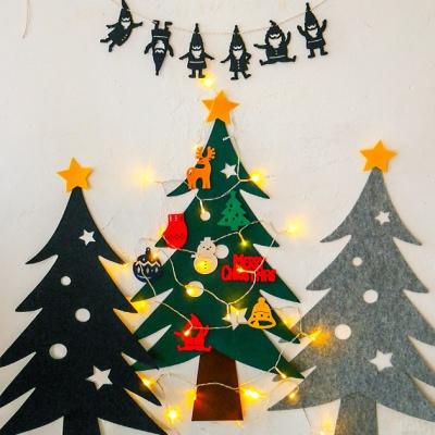 크리스마스 펠트 벽트리 세트
