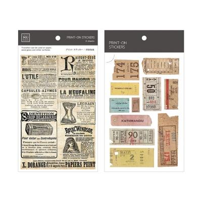 Miccudo 프린트-온 스티커 Ver.2 (11. OldPaper Roll)