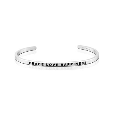 환경 기부팔찌 만트라밴드 PEACE LOVE HAPPINESS