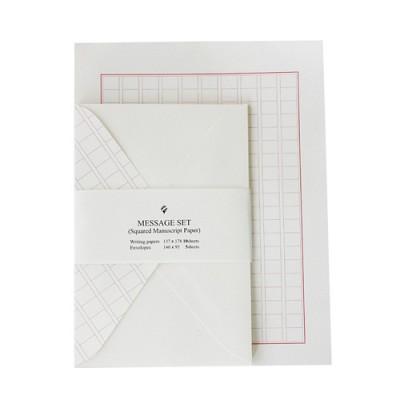 [자연과사람] 원고지(레드)  편지세트