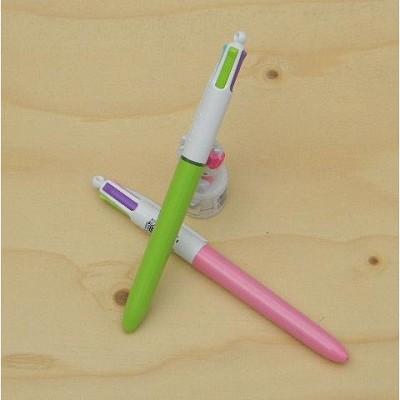 [BiC] 파스텔톤 컬러 잉크를 사용한-프랑스 빅 1.0mm 4색 유성볼펜-패션 멀티펜 1타스 A112-4s