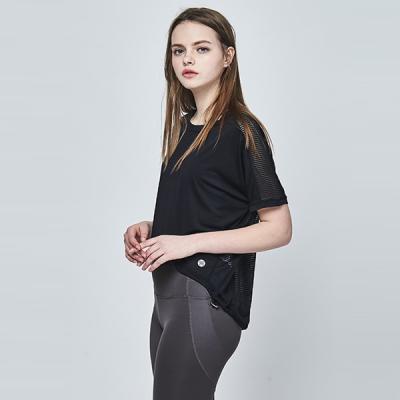 [메디테이션]TS7064 블랙 요가복 운동복 헬스 티셔츠