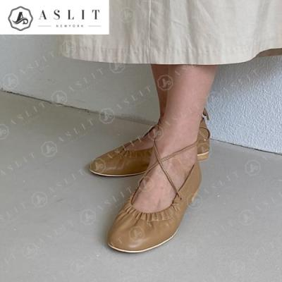 [애슬릿]여성 라운드 끈 발목 스트랩 셔링 플랫 슈즈