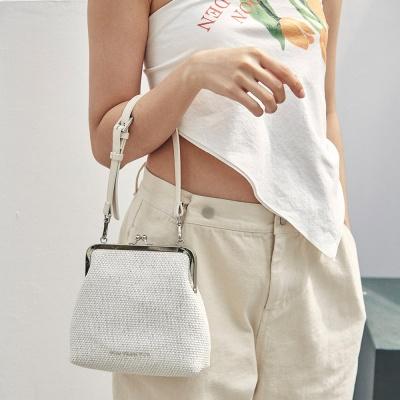 Amelie frame bag_raffia white