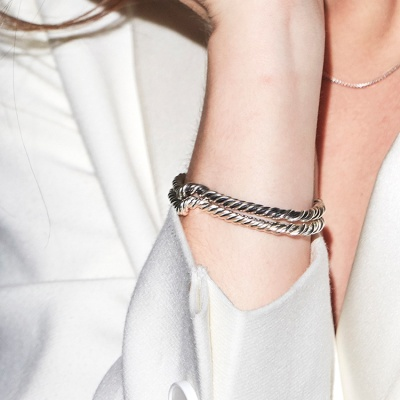 coiled rope bangle