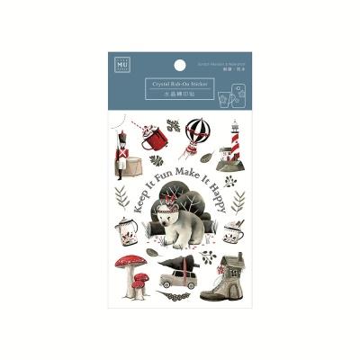 Miccudo 크리스탈 럽 온 스티커 - 13