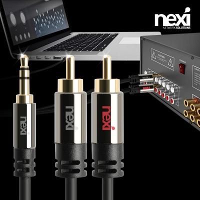 (NEXI) 넥시 3.5mm 스테레오 AUX-2RCA 케이블 (1m~3m)