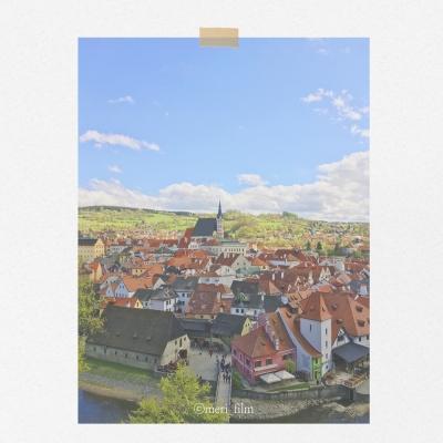 메리필름 체코 체스키크롬로프 A3 종이 포스터