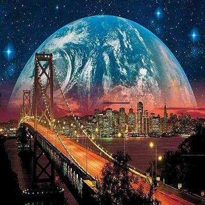 [보석십자수]HS19284 달의도시 size 40x50cm